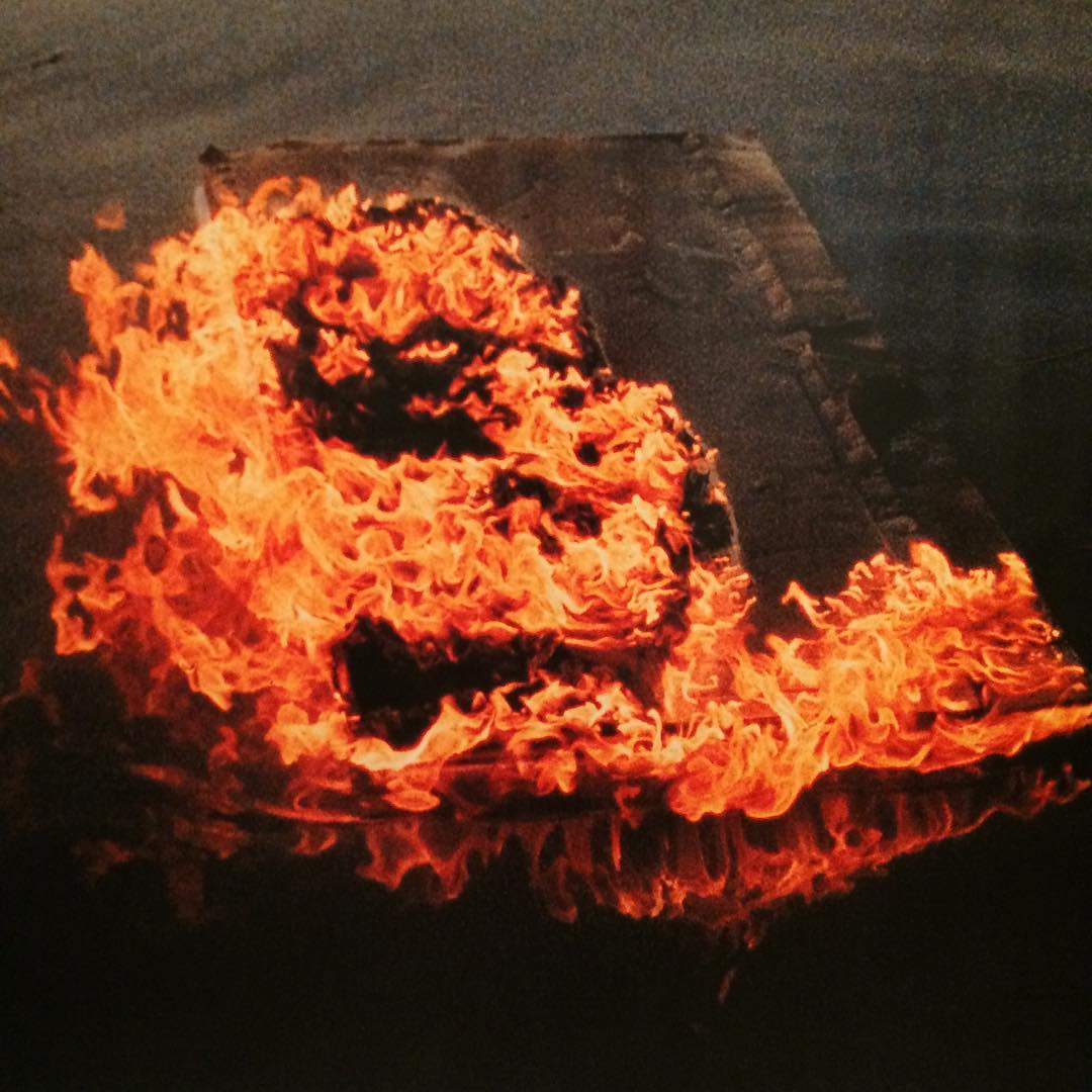 Seung-Teak Lee, The Burning Canvas Floating on the River, 1964 #asianavantegarde #busanbiennale