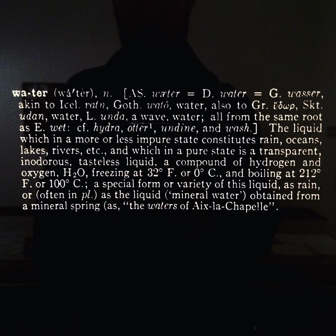 Joseph Kosuth, Notebook on Water, 1965-1966
