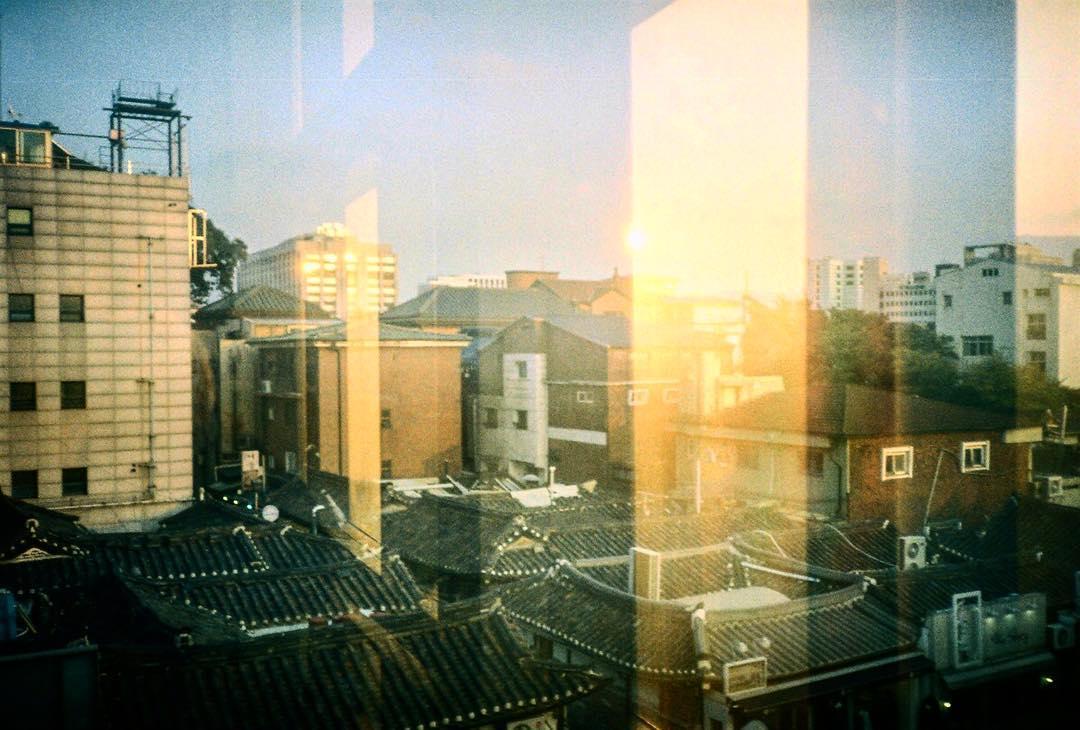#analog #sunset in #seoul